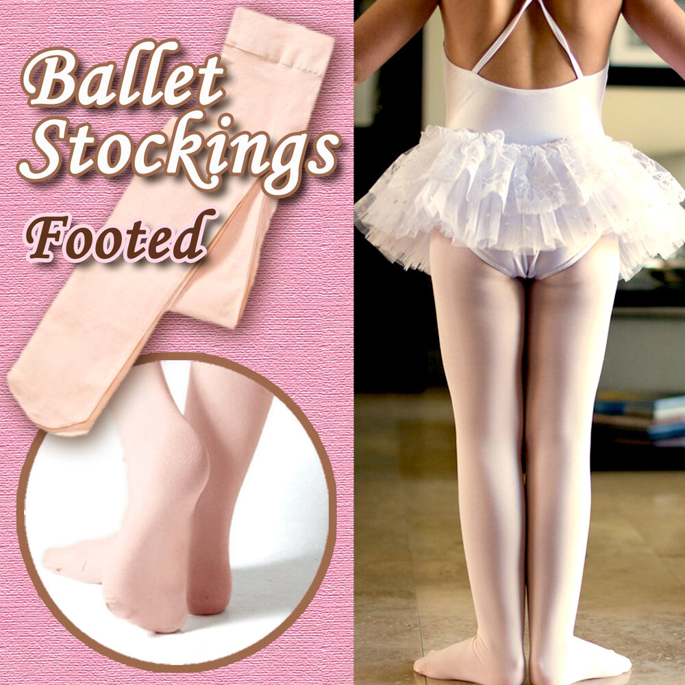 24987cfa91799 Details about 2PairsChildren/girls ballet stockings/dance footed tights /pantyhose,pink,6 sizes