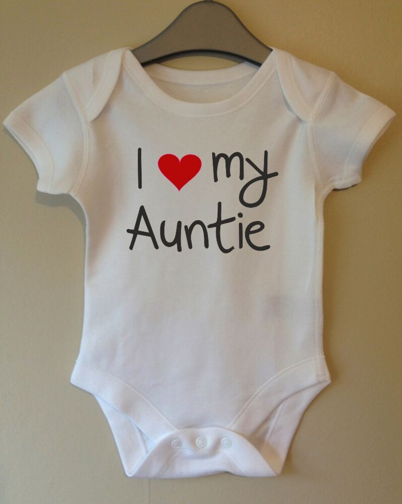 I LOVE MY AUNTIE CUTE BABY BODY GROW SUIT VEST GIRL BOY ...