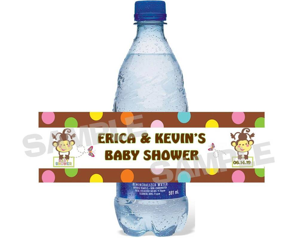 jungle monkey baby shower water bottle label wrappers ebay