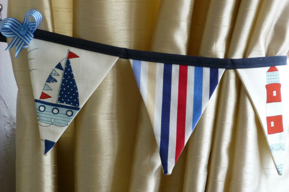 how to make bunting tie backs