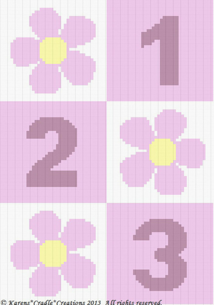 how to change colors in crochet graph