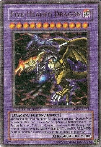 2006 Yu-Gi-Oh Dinosaur's Rage Structure Deck #SD9SS1 Five ...