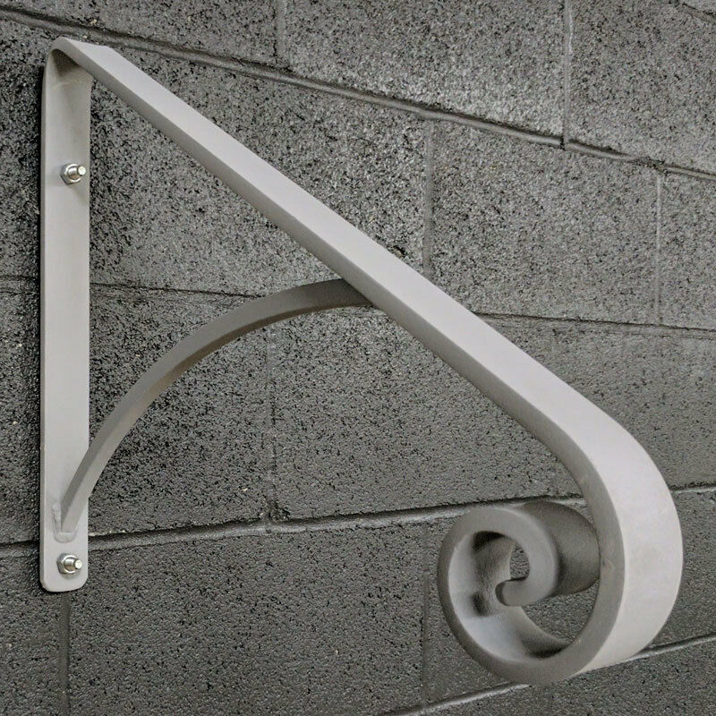 Step Handrail: Updated! Grab Hand Rail For 1 Or 2 Steps, Steel, Wrought