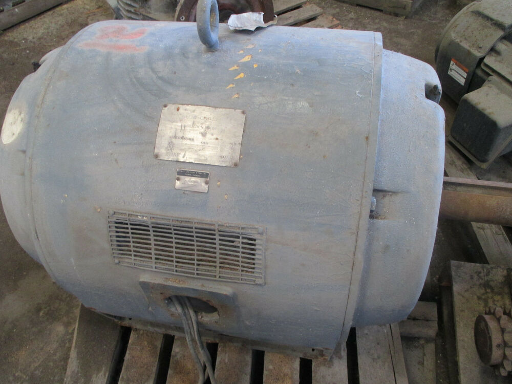 Allis chalmers electric motor 300hp 505u 1800rpm 4160v odp for Allis chalmers electric motor