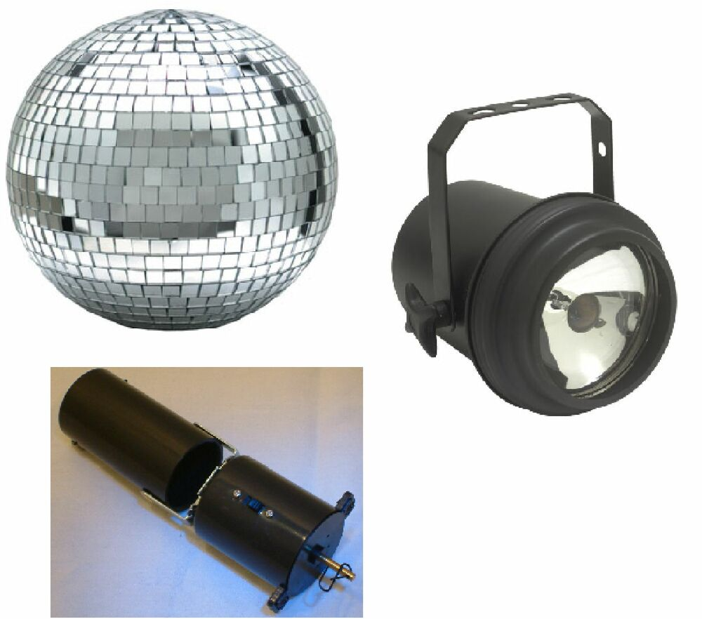 complete 8 disco ball party in a box light mirror ball motor see video ebay. Black Bedroom Furniture Sets. Home Design Ideas