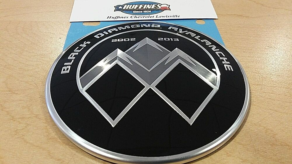 New Oem Emblem Black Diamond Avalanche 2002 2013 Chevrolet