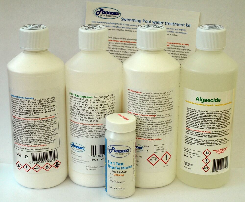 Swimming Pool Water Treatment Kit Chemical Starter For