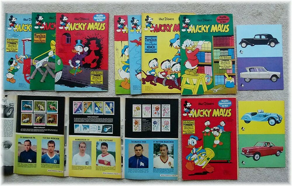 micky maus comic jahrgang 1966 nr 1 bis 11 beilage auto. Black Bedroom Furniture Sets. Home Design Ideas
