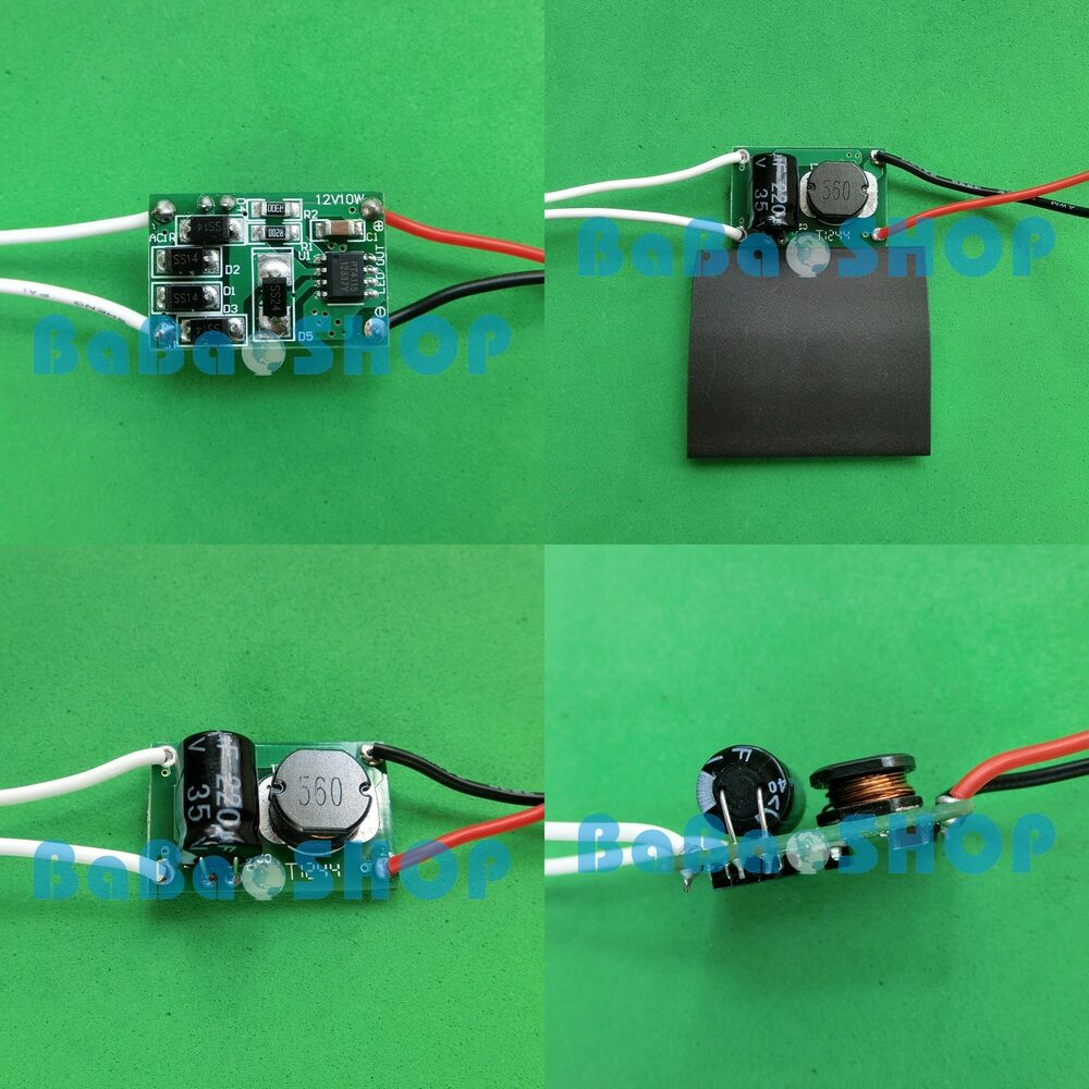 ac dc driver 12v 24v high power supply for 10w led light to dc out 9v 12v 900ma ebay. Black Bedroom Furniture Sets. Home Design Ideas