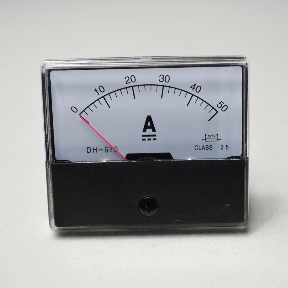 Dc Current Meter : New dc a analog amp panel meter current ammeter ebay