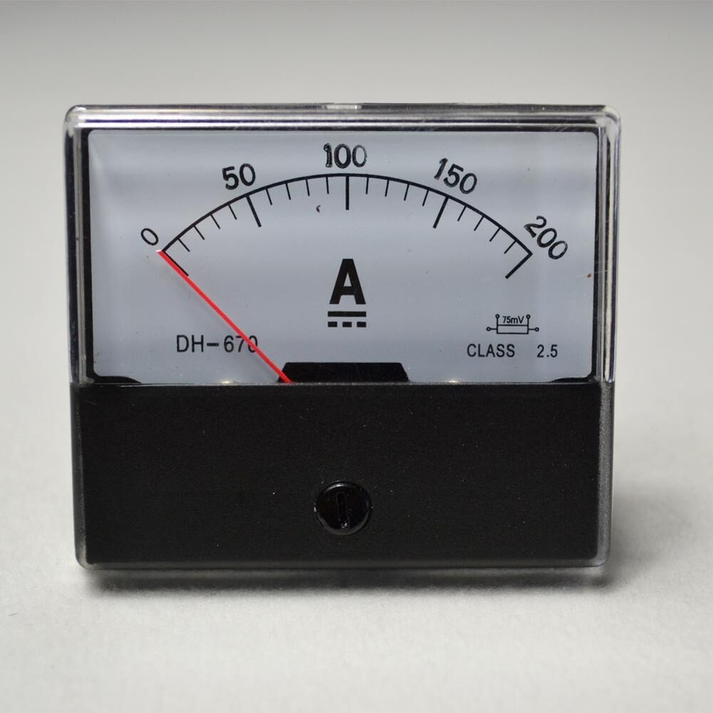Analog Panel Meter : New dc a analog amp panel meter current ammeter top