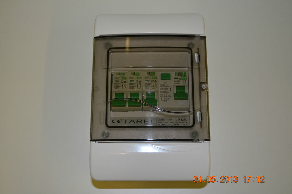 Fuse Box Rcd Switch : Way garage home caravan consumer unit box rcd mcb s