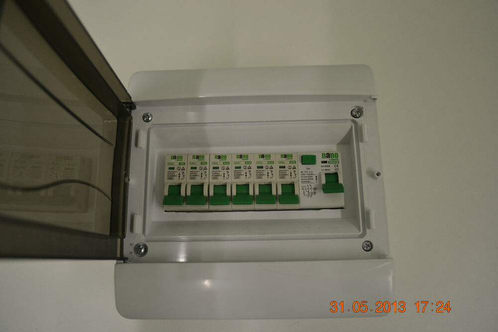 Fuse Box Rcd Switch : Way garage shed caravan workshop consumer unit