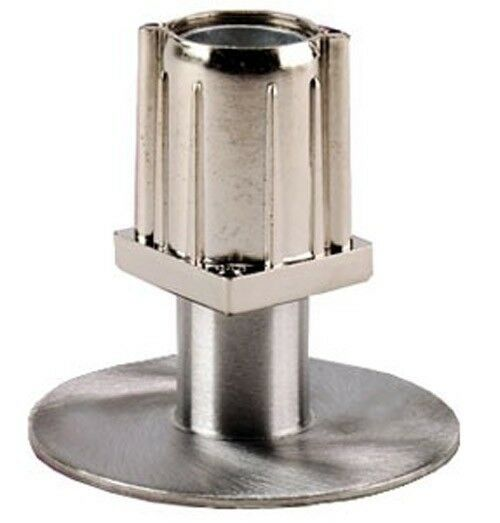 Stainless flanged adjustable foot insert for quot square