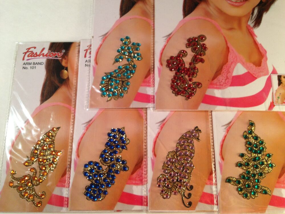 Body Shop Henna Tattoo: 2 Colored Glitter Arm Tattoo/Henna/Tattoo/Temporary Tattoo