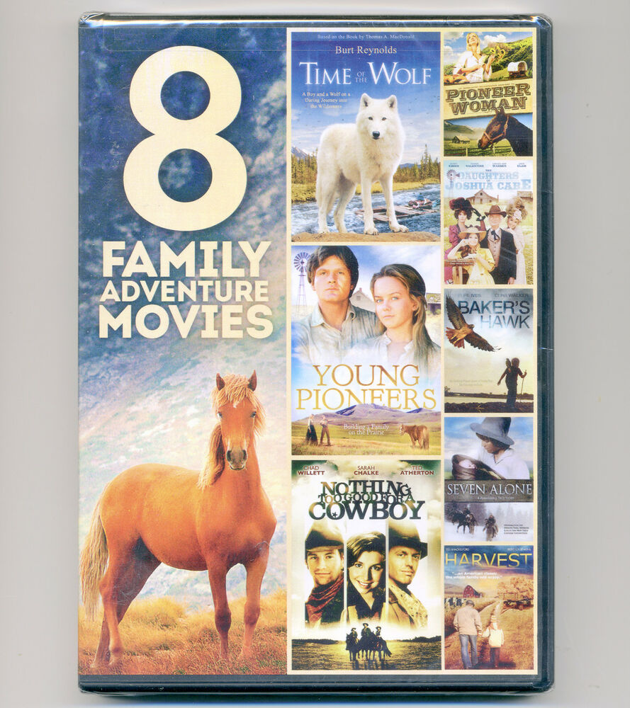 8 Family Adventure Movies Dvds Time Wolf Pioneers Cowboy Cabe Hawk