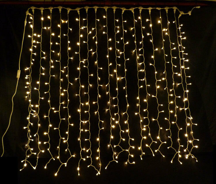 warm white led curtain light ideal wedding backdrop party. Black Bedroom Furniture Sets. Home Design Ideas