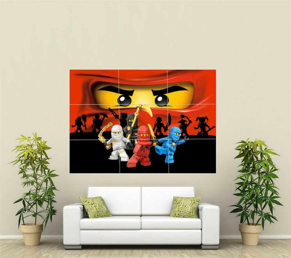 lego ninjago giant xl section wall art poster vg132 ebay. Black Bedroom Furniture Sets. Home Design Ideas
