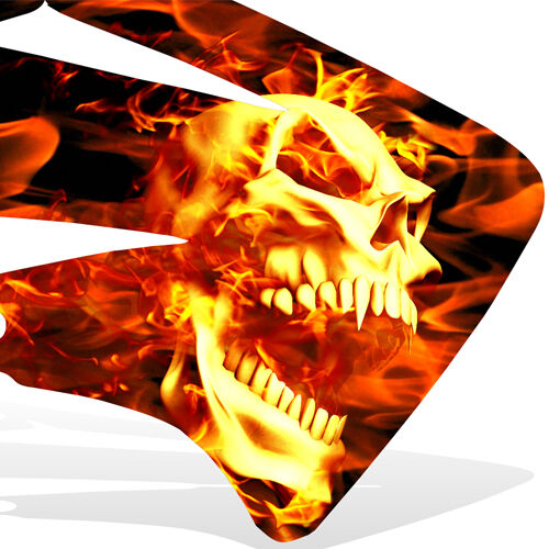 Ktm 950 Se Super Enduro Graphics Kit Decal Mx Sticker Ghost Rider Flame Skull Ebay