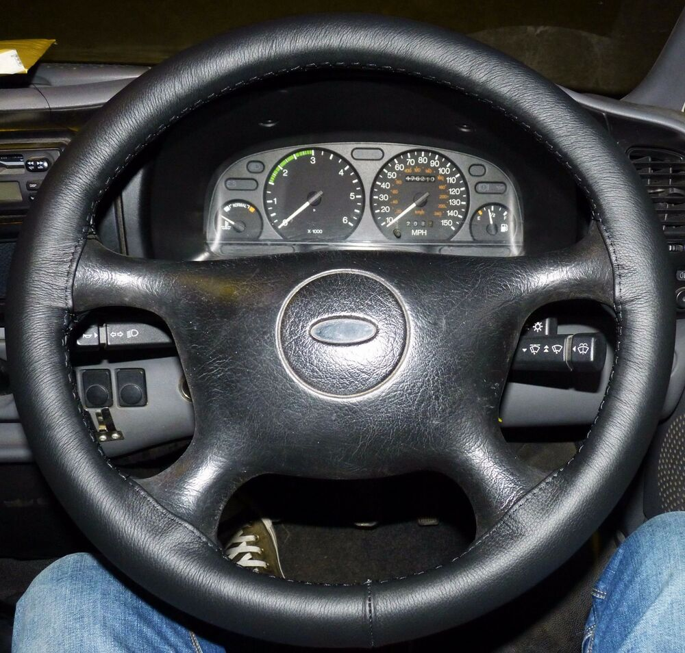 Ford Transit 250 >> FITS FORD TRANSIT MK5 95-00 REAL BLACK ITALIAN LEATHER ...