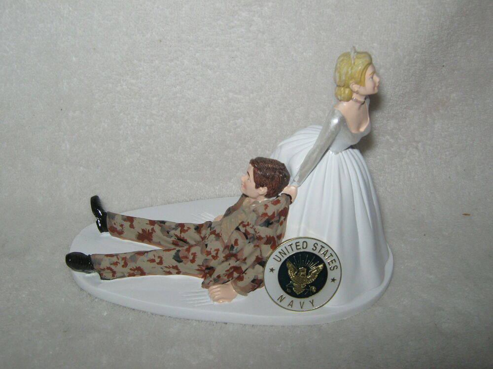 wedding cake toppers military navy us navy humorous cake topper desert 26540