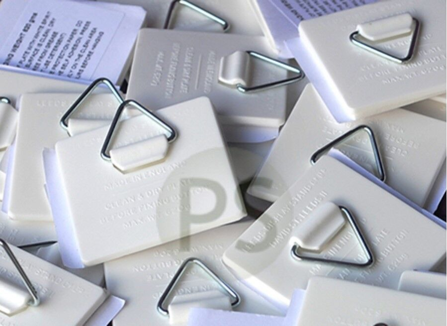 25 X Self Adhesive Plate Picture Hanger Hook Sticky