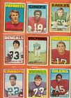 1972 Topps Football you pick 9 picks for $3.00  VG and better