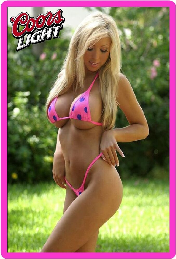 Clean Dirty Magnets For Dishwasher Coors Light Beer Sexy Babe In Pink Bikini Refrigerator ...