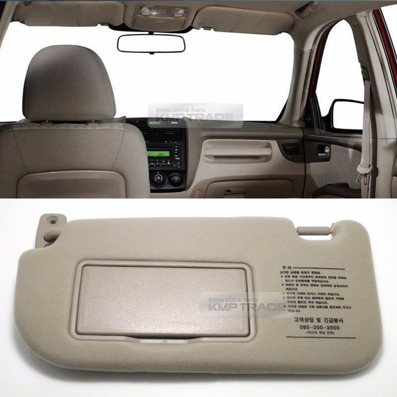 oem interior hand sun visor shade lh beige for kia 2005 2008 2009 2010 sportage ebay. Black Bedroom Furniture Sets. Home Design Ideas