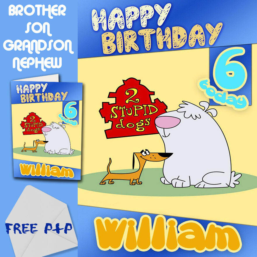PERSONALISED Birthday Card Son Brother