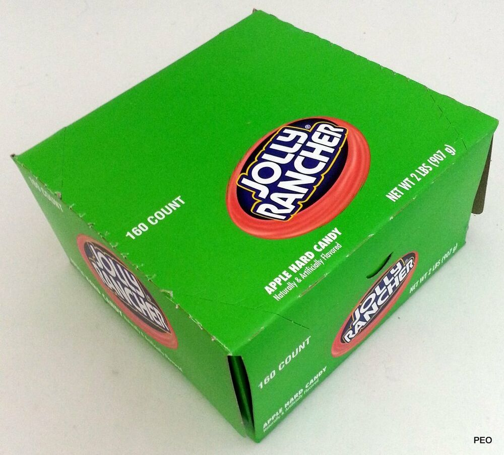 jolly rancher green apple hard candy 160 ct box free shipping bulk candies sour ebay. Black Bedroom Furniture Sets. Home Design Ideas