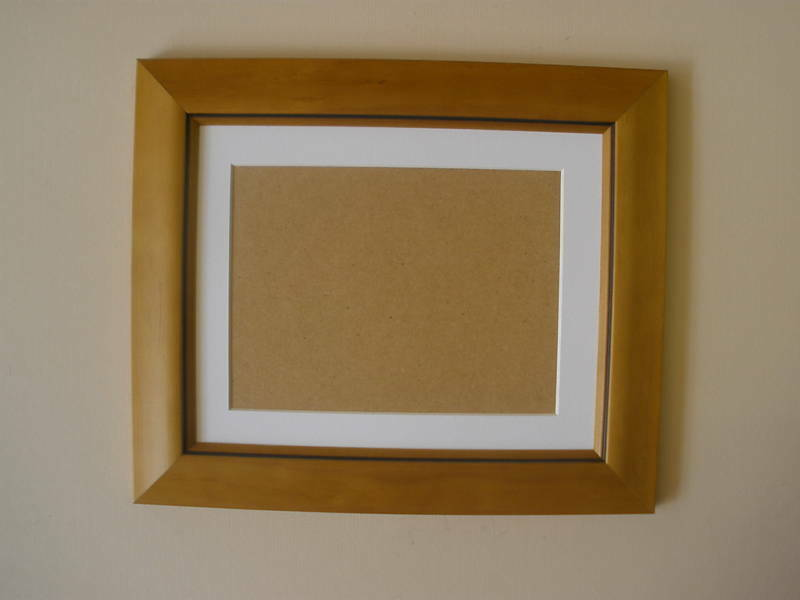antique pine wooden picture frame with mount and glass ebay