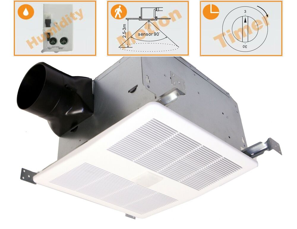 bathroom exhaust fan with humidity sensor and light kaze se90tmh humidity amp motion sensing bathroom fan 26310