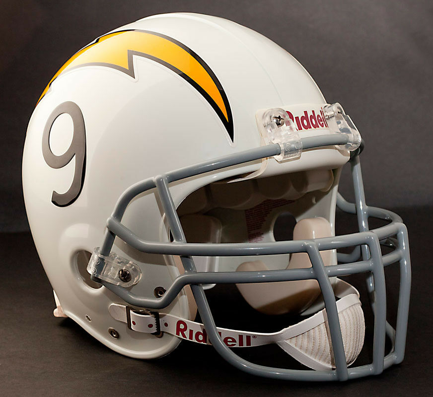 San Diego Chargers Drew Brees: DREW BREES Edition SAN DIEGO CHARGERS Riddell THROWBACK