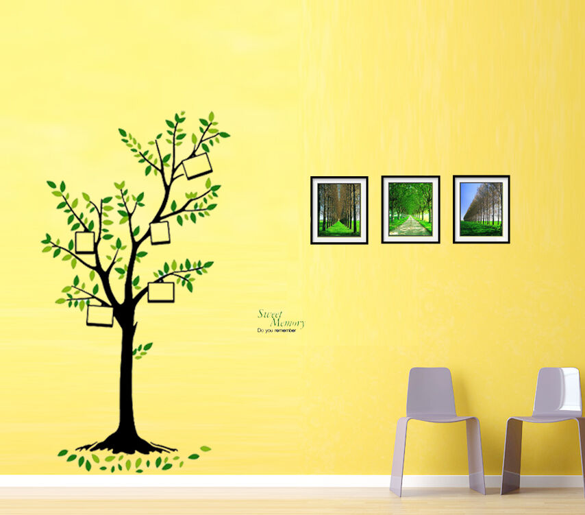leinwand wald vogel baum foto rahmen wandsticker. Black Bedroom Furniture Sets. Home Design Ideas