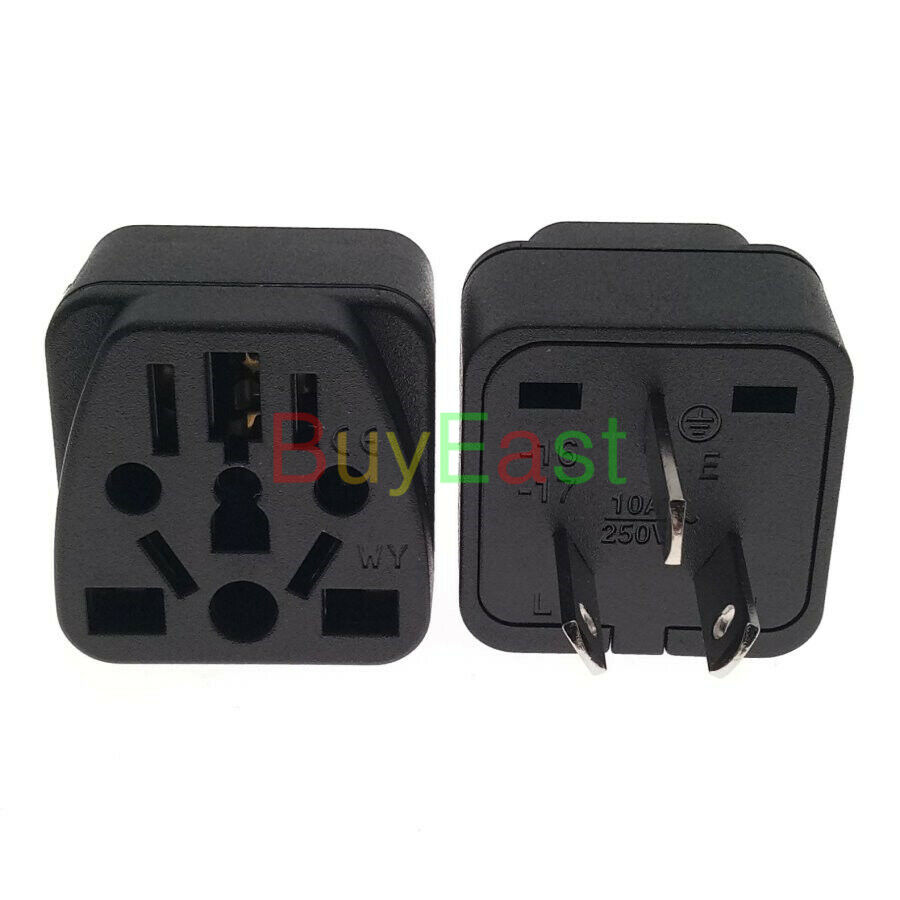 1 x china australian travel plug adapter ac100 250v 10a. Black Bedroom Furniture Sets. Home Design Ideas