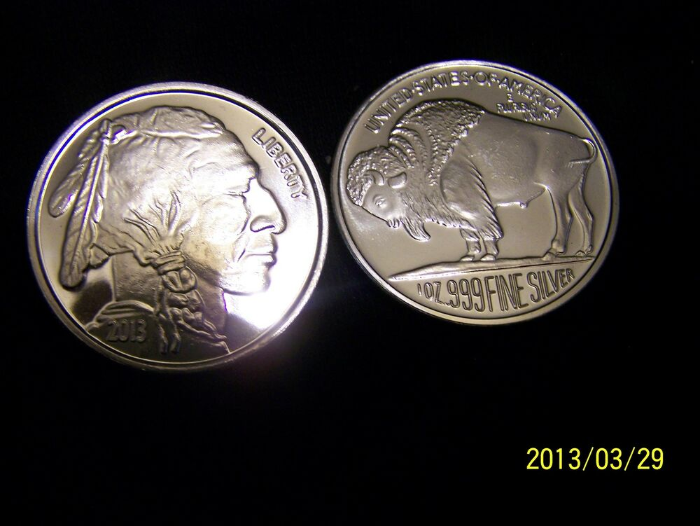 2013 Indian Head Buffalo 1ozt Pure Silver Buffalo Art