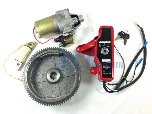 Gx160 Gx200 Electric Start Kit Starter Motor Flywheel