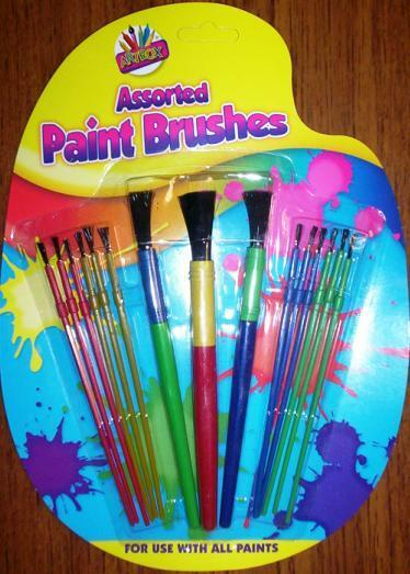 New kids 15 assorted paint brush set painting art craft for Arts and crafts sets for toddlers