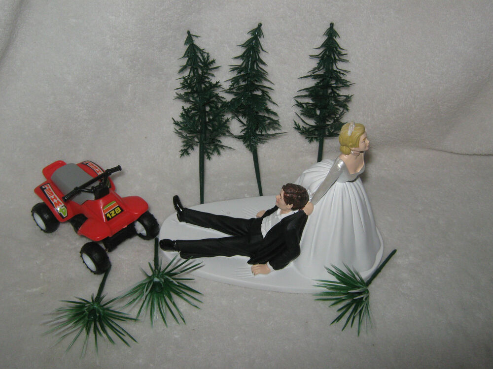 4 wheeler wedding cake toppers wedding cake topper 4 wheeler atv your choice color 10428
