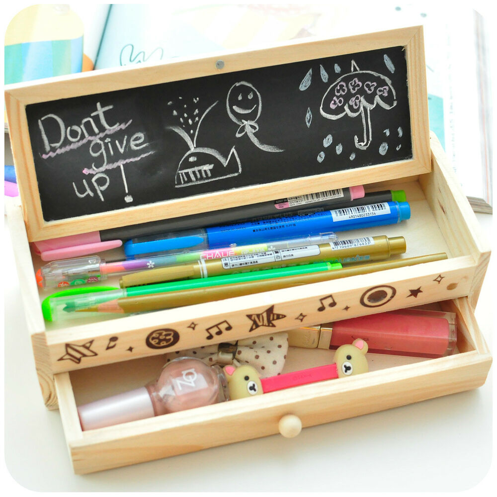 Cute And Personalized School Pencil Cases Vintage Wooden