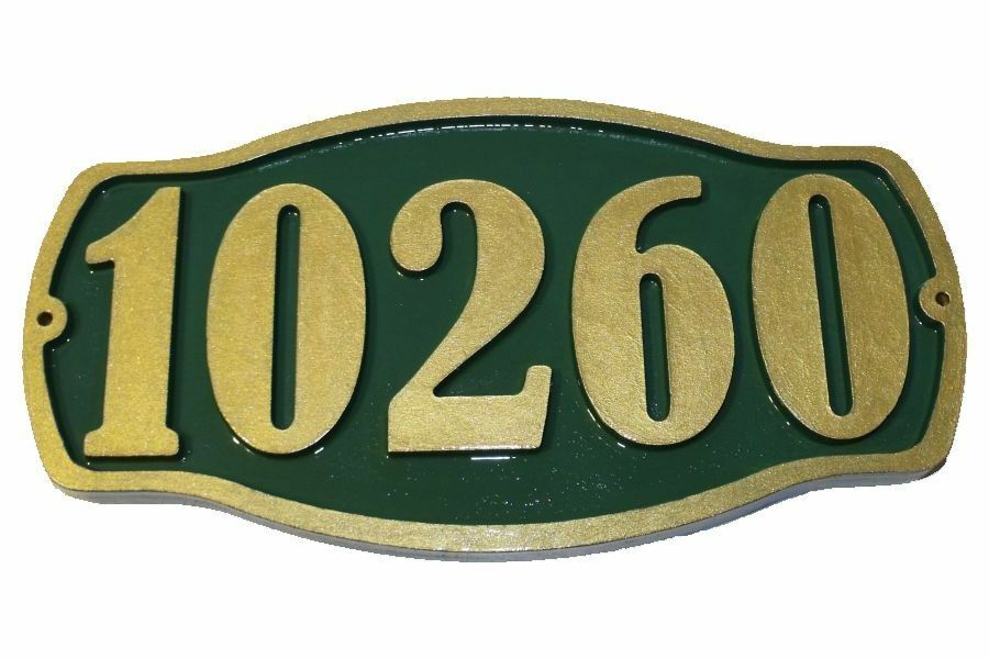 Personalized old style house number 3d engraved address for Classic house number plaque