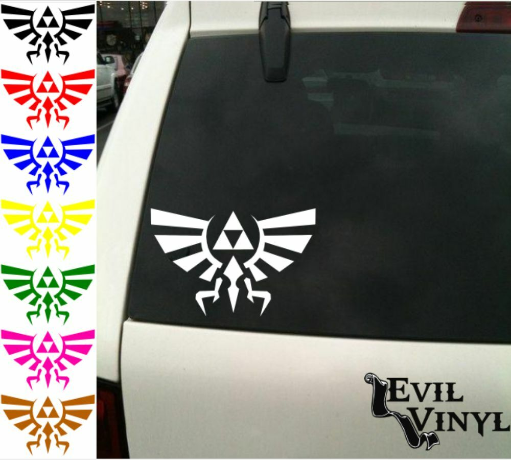 Zelda Triforce Of Hyrule Decal Car Window Vinyl Nintendo