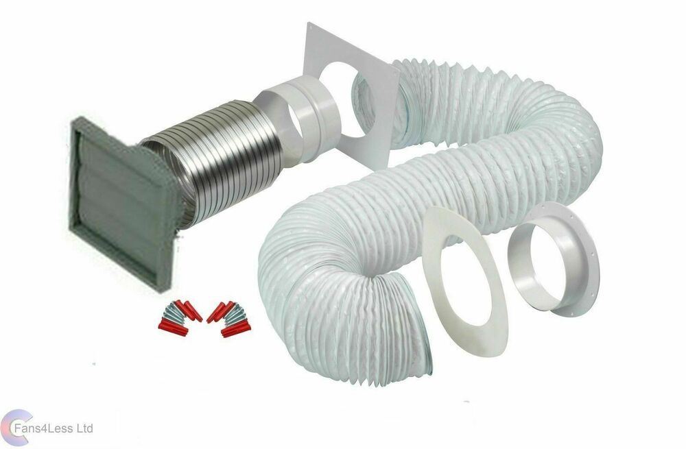 Tumble Dryer Exhaust Pipe ~ Manrose mm tumble dryer venting kit wall ducting