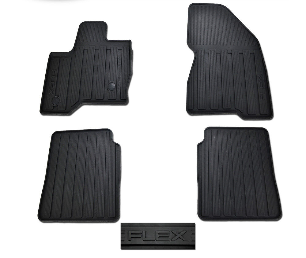 OEM NEW 2013 Ford Flex All-Weather Vinyl Floor Mats Rubber