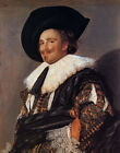 Oil painting Frans Hals - Male portrait The Laughing Cavalier with black hat