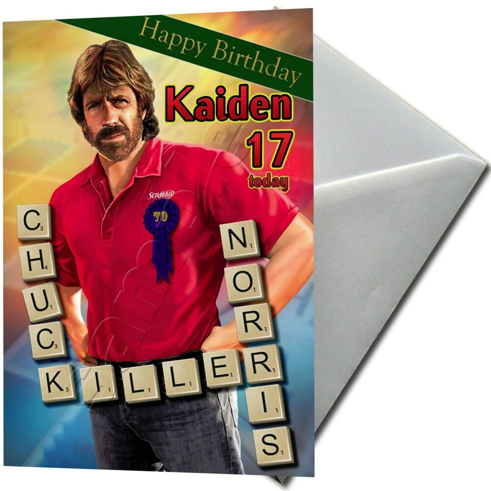 chuck norris  personalised birthday card large a  ebay, Birthday card
