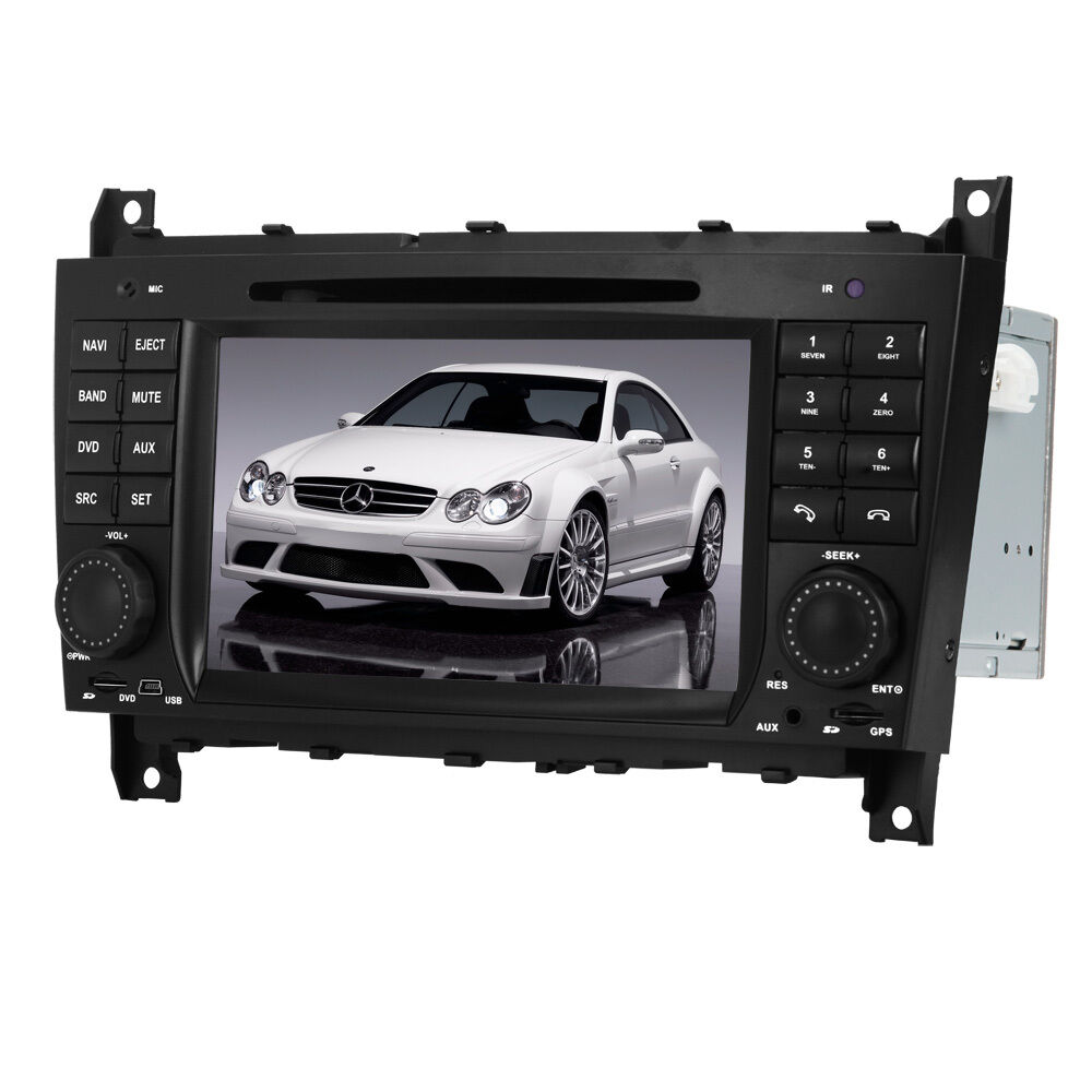 autoradio dvd gps satnav gps stereo for mercedes benz c class w203 clk w209 ebay. Black Bedroom Furniture Sets. Home Design Ideas