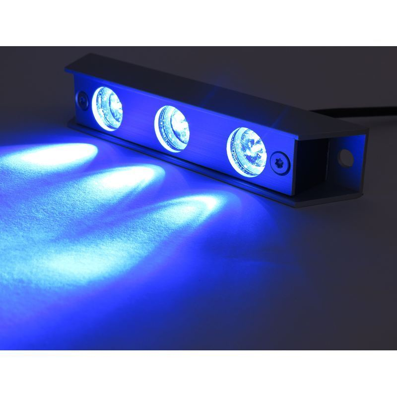 Battery Underwater Led Boat Lights: Sublight LED Underwater Lamps / Lights For Boats - Blue