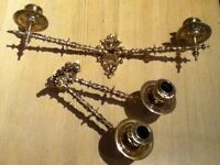 Reclaimed Antique Brass Bronze Piano Wall Candle Sconce Candelabra Holder(AF027)